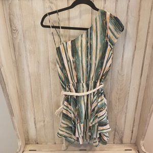 Free People Double-layer One Shoulder Romper